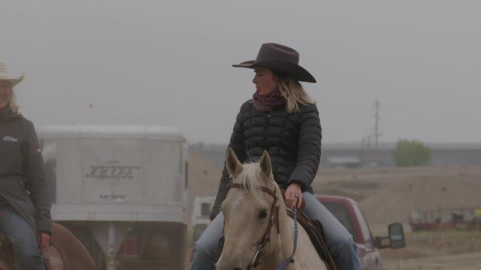 Barrel Racing - Mother and Daughter